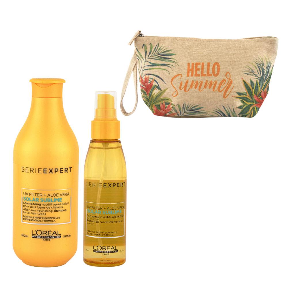 L'Oreal Solar Sublime Kit Shampoo 300ml Spray 125ml - Handtasche Geschenken
