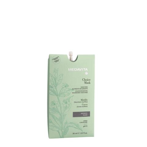 Medavita Lunghezze Choice Mask Silber 30ml - Nährende Reflexmaske