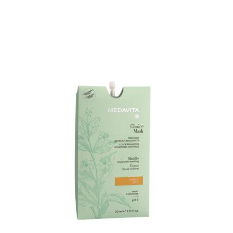 Medavita Lunghezze Choice Mask Gold 30ml - Nährende Reflexmaske