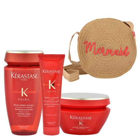 Kerastase Soleil Kit Shampoo 250ml Creme UV Sublime 150ml Masque 200ml - Geschenk Tasche
