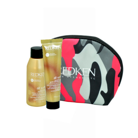Redken Kit All soft Shampoo 50ml Conditioner 30ml Geschenk Handtasche