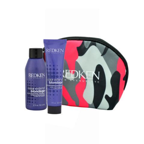 Redken Color extend Blondage Kit Shampoo 50ml Conditioner 30ml Geschenk Handtasche