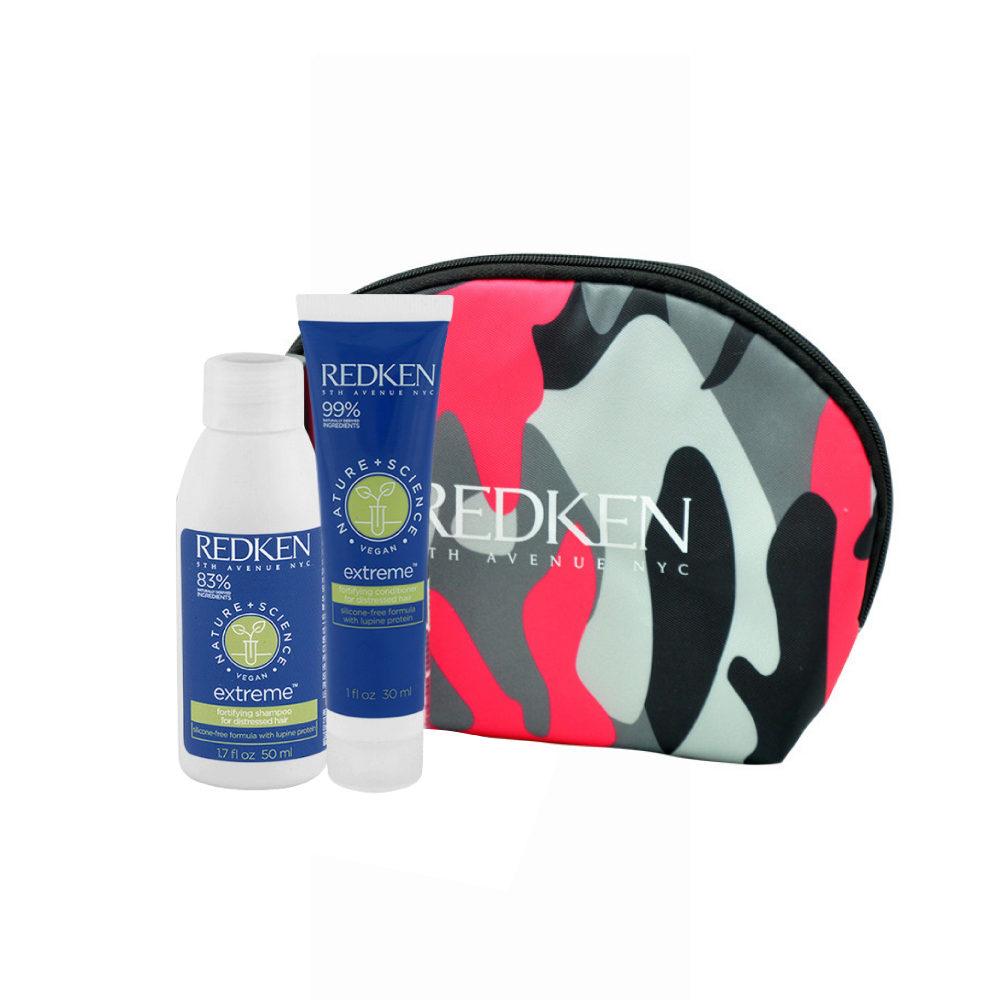 Redken Nature + Science Extreme Shampoo 50ml Conditioner 30ml Geschenk Handtasche