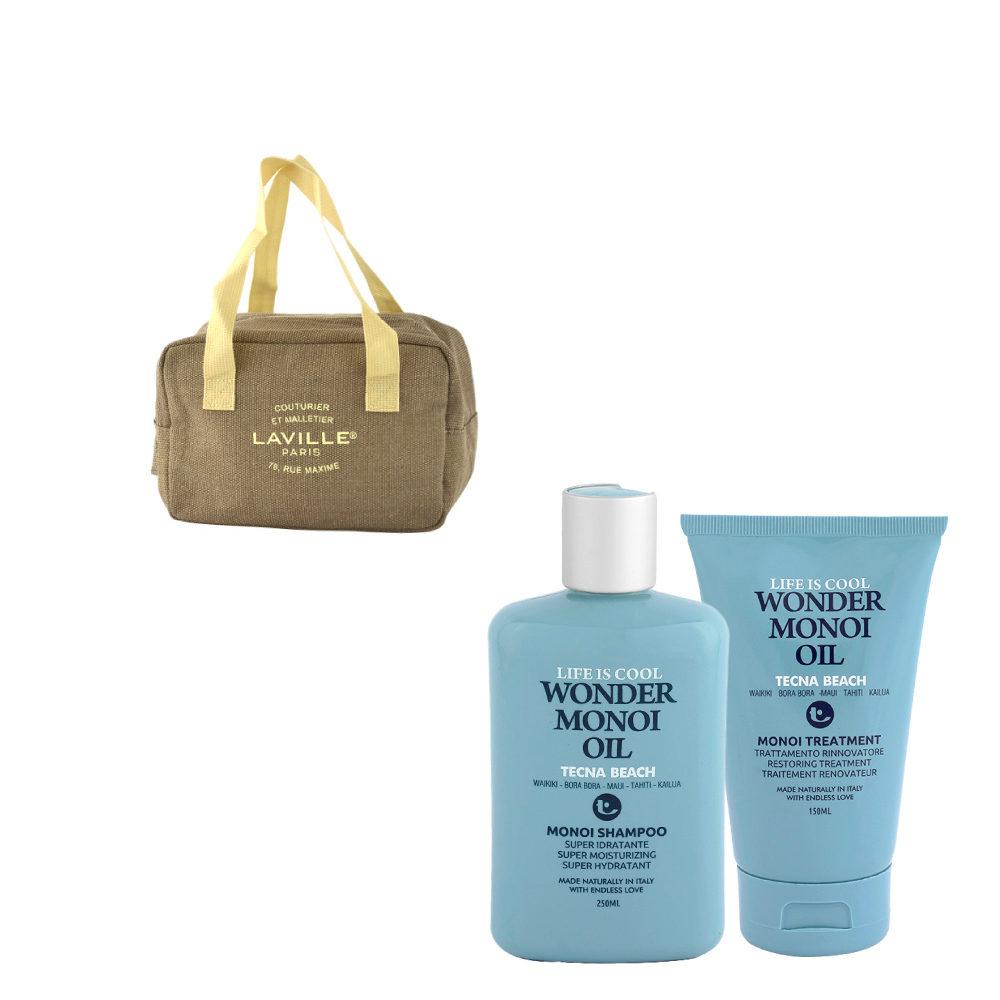 Tecna Beach Wonder Monoi kit Shampoo 250ml Treatment 150ml Geschenk Kühlsack
