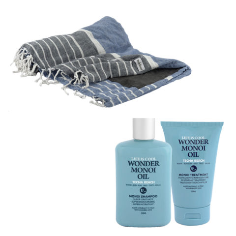 Tecna Beach Wonder Monoi kit Shampoo 250ml Treatment 150ml + Kostenloses Strandtuch Baldinini