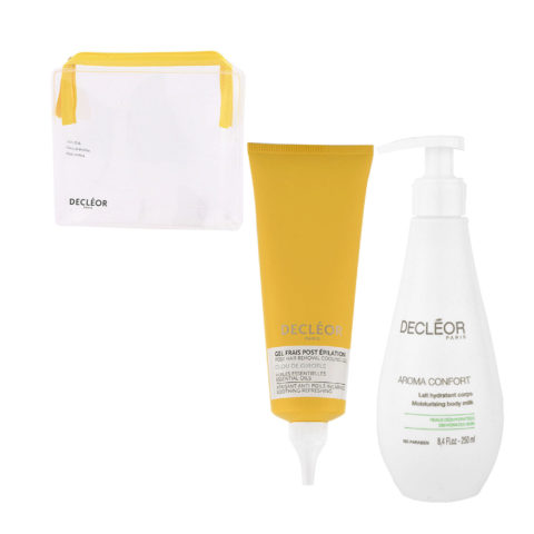 Decléor Bodycare Kit Post Hair Removal Cooling gel Clove 125ml Lait Hydratant 250ml - Geschenk Handtasche