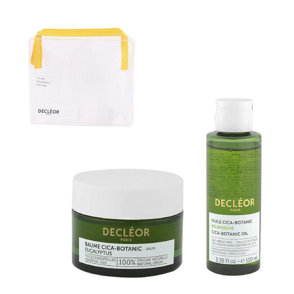 Decléor Body Care Cica-Botanic Kit Baume Eucalyptus 50ml Huile 100ml - Geschenk Handtasche