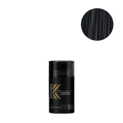 Tricomix Fibre Black 12gr - Volumisierende Keratinfasern Mit Anti-Haarausfall-Effekt Schwarz