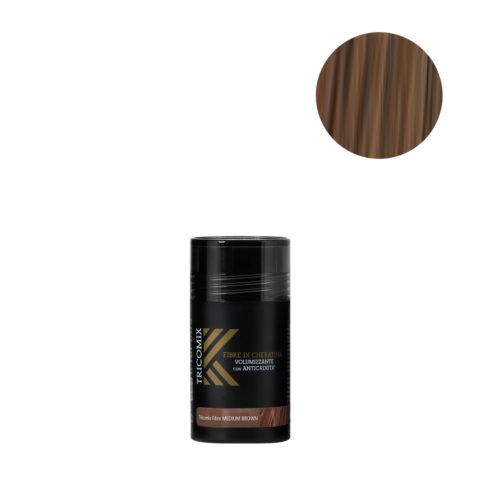 Tricomix Fibre Medium Brown 12gr - Volumisierende Keratinfasern Mit Anti-Haarausfall-Effekt Mittelbraun