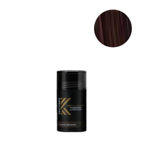 Tricomix Fibre Dark Brown 12gr - Volumisierende Keratinfasern Mit Anti-Haarausfall-Effekt Dunkelbraun