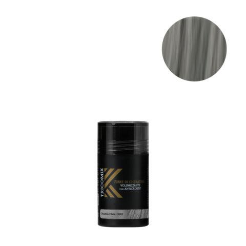 Tricomix Fibre Gray 12gr - Volumisierende Keratinfasern Mit Anti-Haarausfall-Effekt Mittelgrau