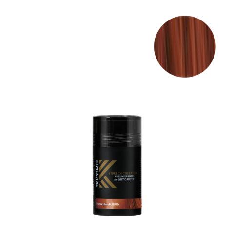 Tricomix Fibre Auburn 12gr - Volumisierende Keratinfasern Mit Anti-Haarausfall-Effekt Dunkelrot