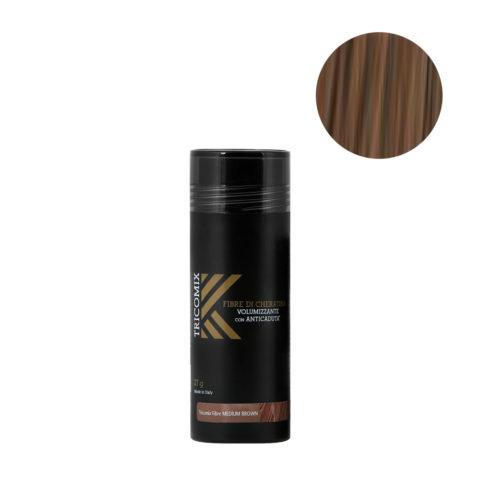 Tricomix Fibre Medium Brown 27gr - Volumisierende Keratinfasern Mit Anti-Haarausfall-Effekt Mittelbraun