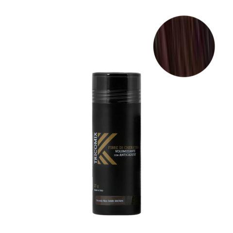 Tricomix Fibre Dark Brown 27gr - Volumisierende Keratinfasern Mit Anti-Haarausfall-Effekt Dunkelbraun