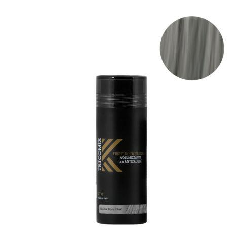 Tricomix Fibre Gray 27gr - Volumisierende Keratinfasern Mit Anti-Haarausfall-Effekt Mittelgrau