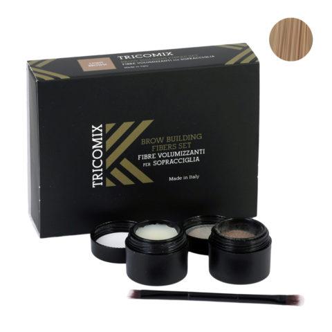 Tricomix Brow Light Brown 1,2g + 2g - Volumisierende Augenbrauenfasern Für Die Augenbrauen - Hellbraun