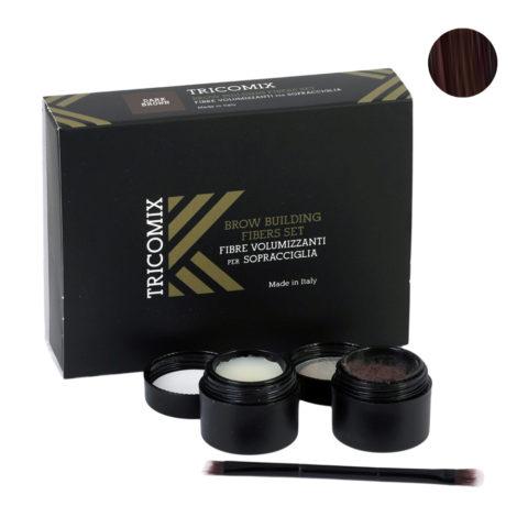 Tricomix Brow Dark Brown 1,2g + 2g - Volumisierende Augenbrauenfasern Für Die Augenbrauen - Dunkelbraun