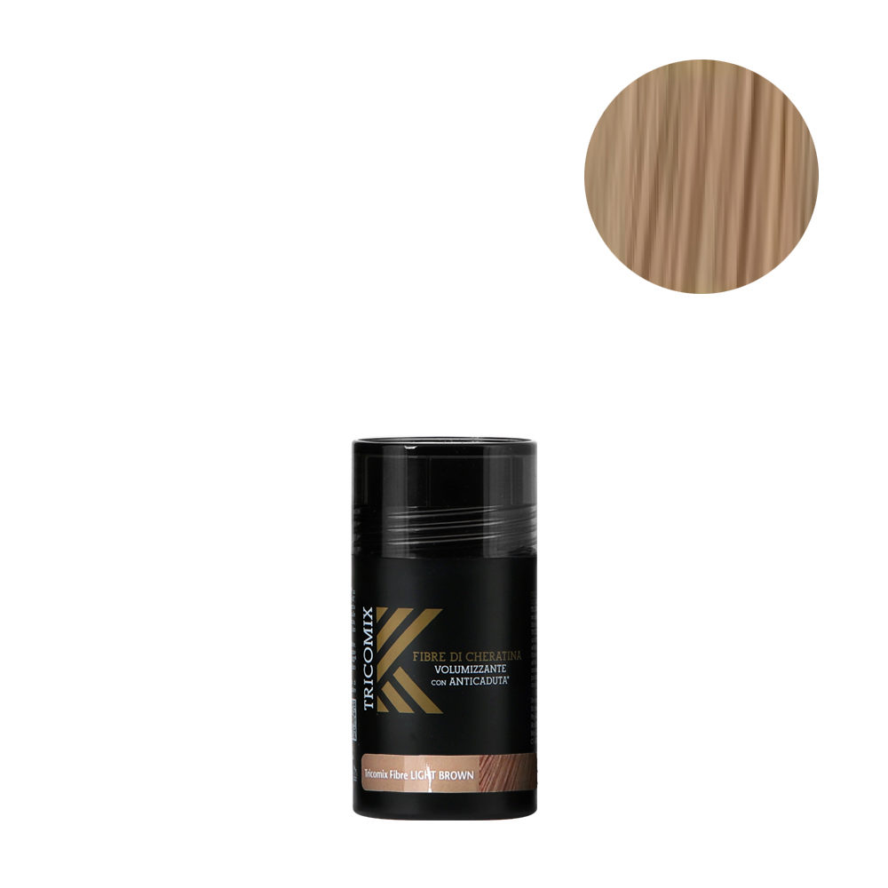 Tricomix Fibre Light Brown 12gr - Volumisierende Keratinfasern Mit Anti-Haarausfall-Effekt Hellbraun