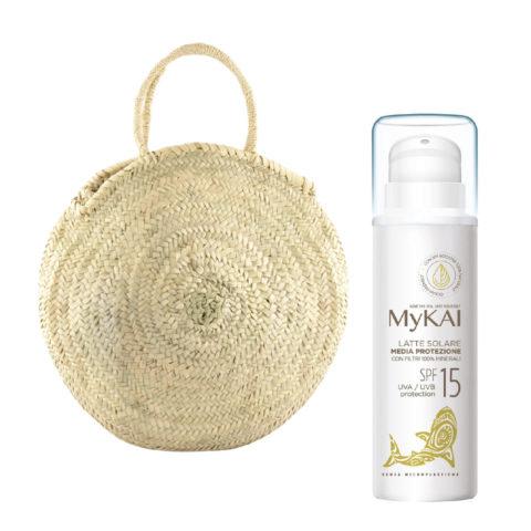 Mykai Sonnenmilch Mittlererschutz SPF15, 150ml Kostenlose Tasche