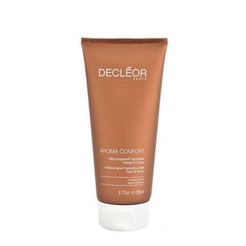 Decléor Aroma Confort Hâle Progressif Hydratant 200ml -  feuchtigkeitsspendende Körpermilch mit Bräunungseffekt