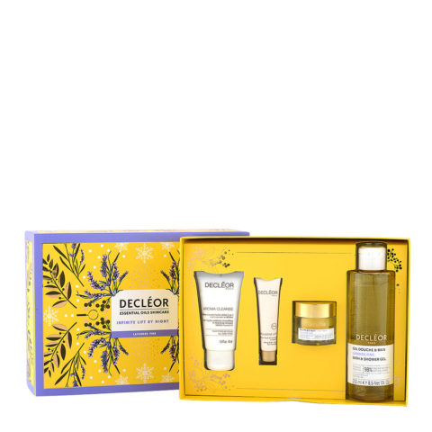 Decléor Essential Oils Skincare Infinite Lift By Night Lavender Fine - Kit 4 Produkte