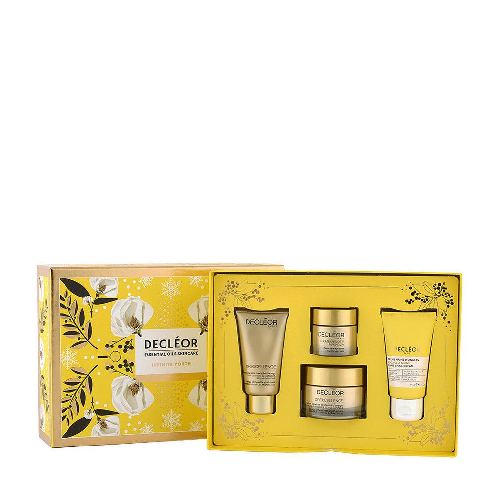 Decléor Essential Oils Skincare Infinite Youth White Magnolia - Kit 4 Produkte