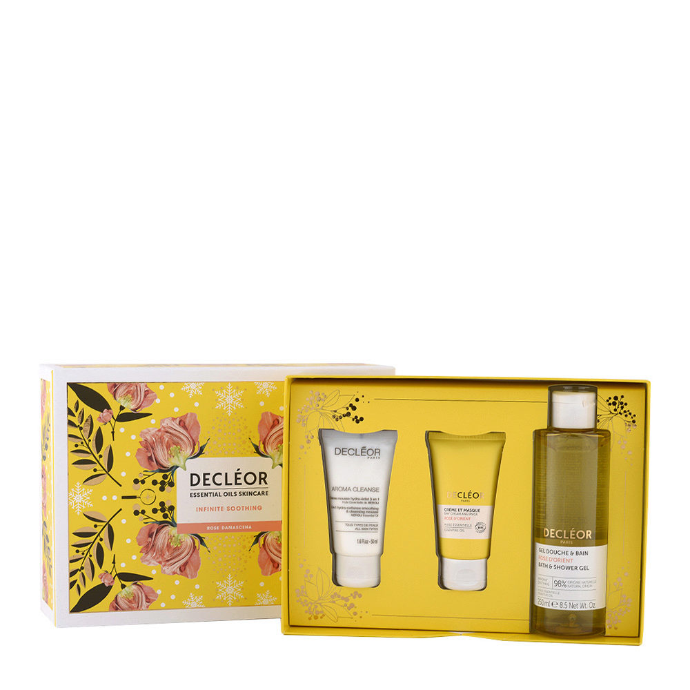Decléor Essential Oils Skincare Infinite Soothing Rose Damascena - Kit 3 Produkte