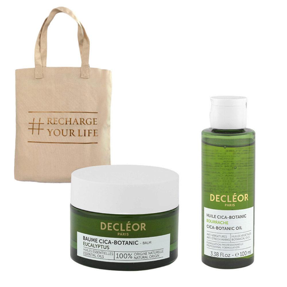 Decléor Body Care Cica-Botanic Kit Baume Eucalyptus 50ml Huile 100ml - Geschenk Tasche