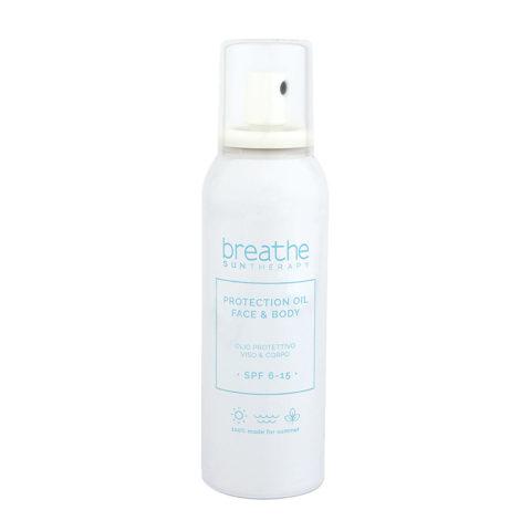 Naturalmente Breathe Sun Protection Oil SPF 6 - 15, 150ml - Schützendes Sonnenöl Gesicht Und Körper