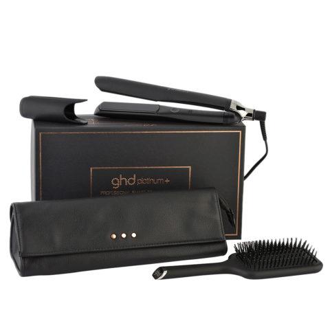 GHD Platinum + Professional Smart Styler Gift Set - Glätteisen Mit Pochette Und Flache Haarbürste