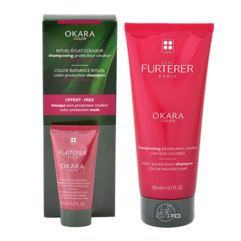 René Furterer Okara Color Protection Shampoo 200ml Mask 30ml free