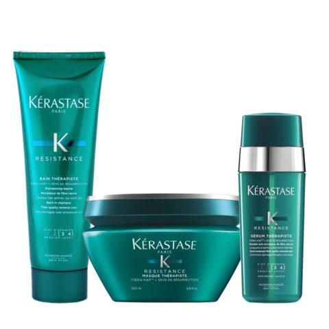 Kerastase Résistance Therapiste Shampoo Mask and Serum for Damaged Hair