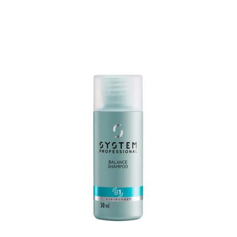 System Professional Balance Shampoo B1, 50ml - Empfindliches Kopfhaut Shampoo