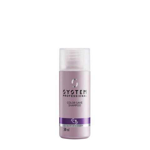 System Professional Color Save Shampoo C1, 50ml - Coloriertes Haar Shampoo