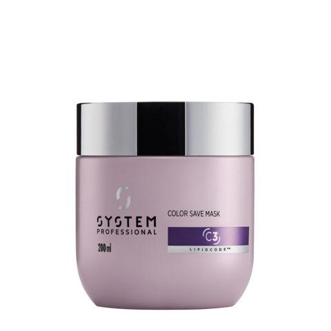 System Professional Color Save Mask C3, 200ml - Coloriertes Haar Maske
