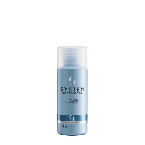 System Professional Hydrate Shampoo H1, 50ml - Feuchtigkeitsspendendes Shampoo