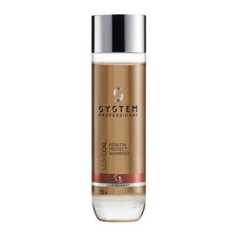 System Professional LuxeOil Shampoo L1, 250ml - Shampoo Mit Keratin
