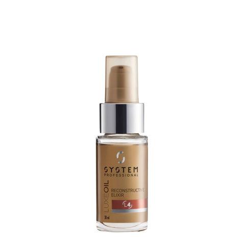 System Professional LuxeOil Elisir L4, 30ml - Keratin öl Für Geschädigtes Haar