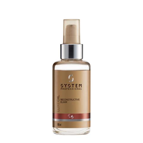 System Professional LuxeOil Elisir L4, 100ml - Keratin öl Für Geschädigtes Haar
