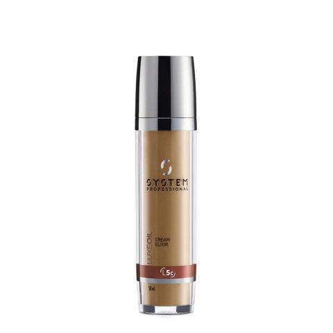 System Professional LuxeOil Cream Elixir L5c, 50ml - Keratin Cream Für Beschädigtes Haar