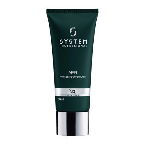 System Professional Man Hair & Beard Conditioner M2, 200ml - Conditioner Bart Und Haar