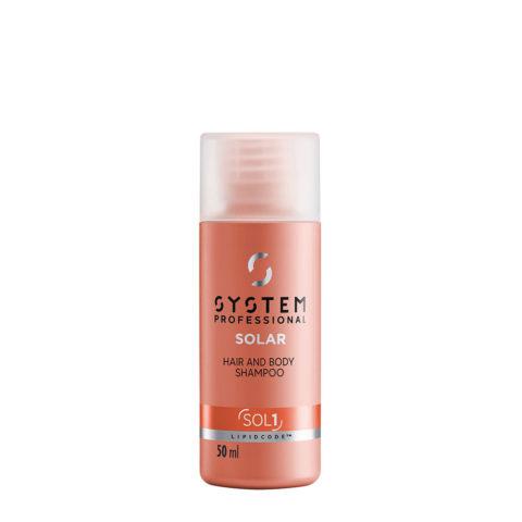 System Professional Solar Hair & Body Shampoo SOL1, 50ml - Haar Und Körper Shampoo