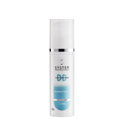 System Professional Styling DD Unlimited Structure DD63, 75ml - Matte Strukturierende Creme