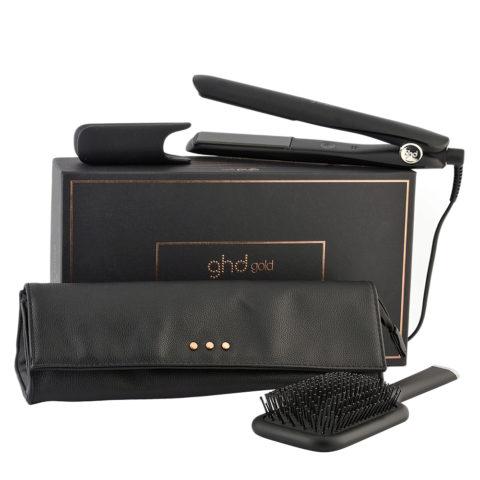 GHD Gold Styler Gift Set - Glätteisen Set Pochette Und Bürste