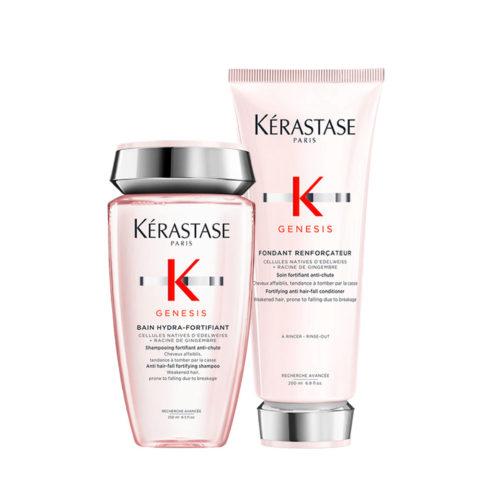 Kerastase Genesis Kit Shampoo 250ml + Conditioner 200ml Stärkung Und Feuchtigkeitsspendend