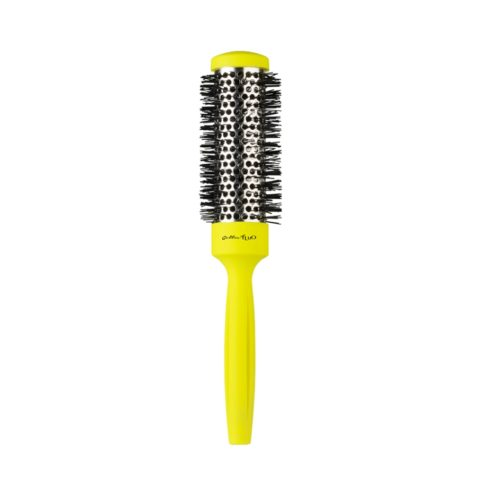 Gettin fluo Yellow Thermal Brush 32mm