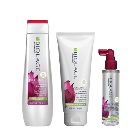 Biolage advanced FullDensity Shampoo 250ml Conditioner 200ml e Thickening spray 125ml