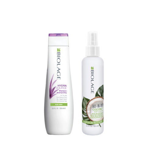 Biolage Hydrasource Shampoo 250ml e All In One Coconut Spray 150ml