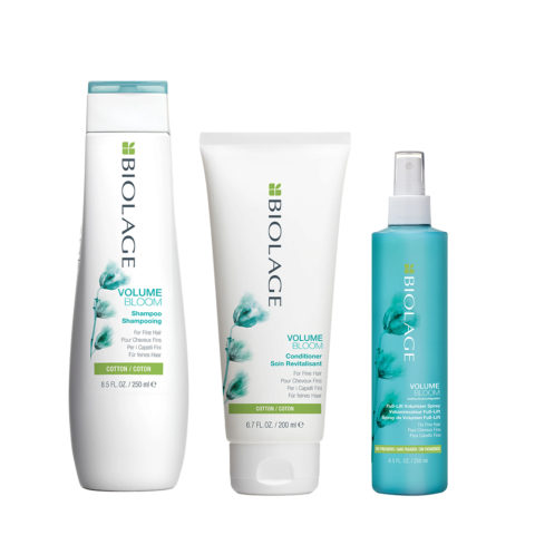 Biolage Volumebloom Shampoo 250ml e Conditioner 200ml e Lift Volumizer Spray 250ml