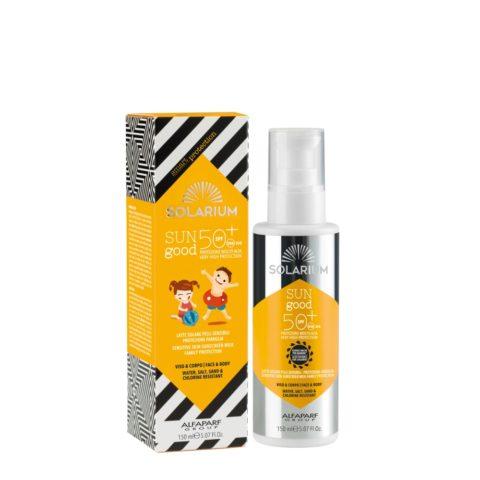 Solarium Sensitive Skin Sunscreen Milk Family protection SPF50  150ml